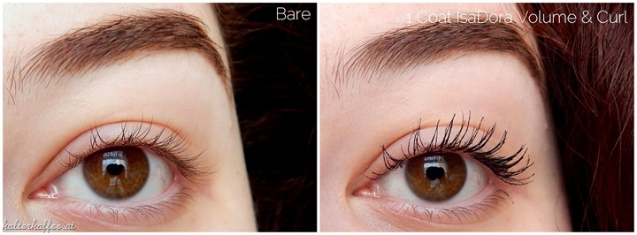 IsaDora Volume & Curl Mascara applied