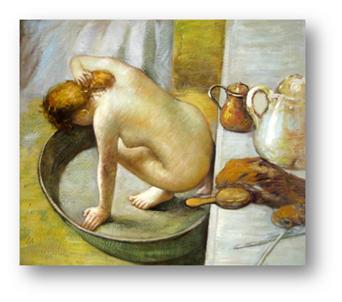La tina (Le tub) 1886 Degas