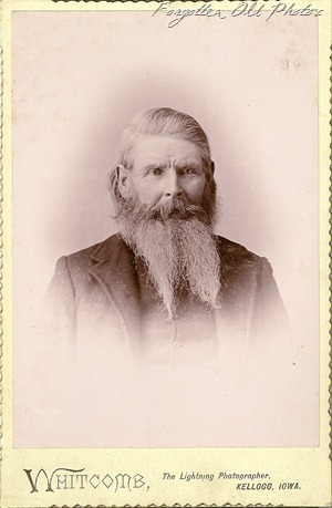 Old Man and beard Cabinet Card W FM