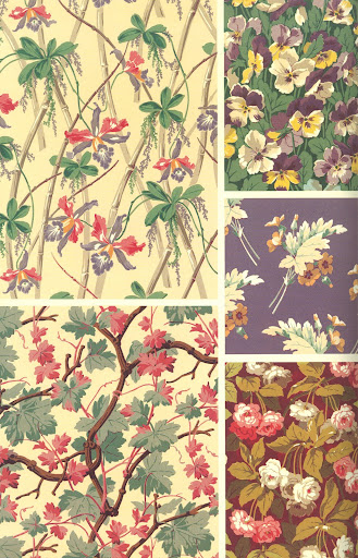 There are endless design fields from 19th century fabrics and wallpapers. Here are a few favorites.