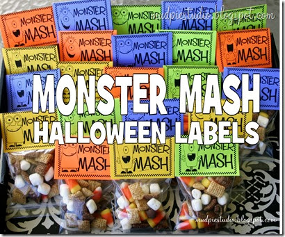 Halloween Treat Bag Labels from mudpiestudio.blogspot.com