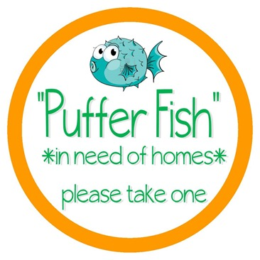 Puffer Fish Label