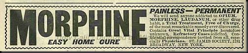 reklama morfiny 1900