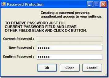 URC Access Modes settare password di protezione limitazioni