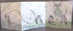 kliban cat trifold card fishntales open card2
