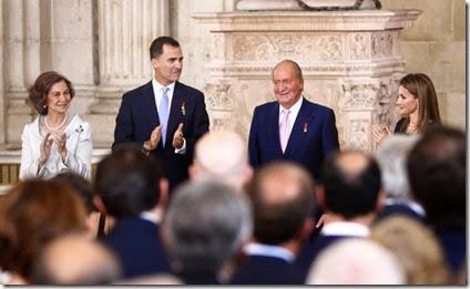 Juan Carlos y Felipe de Borbon