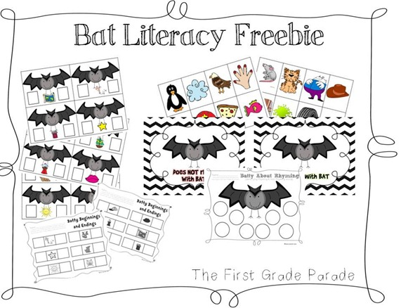 The First Grade Parade: It's Tuesday & I'm a Little Batty