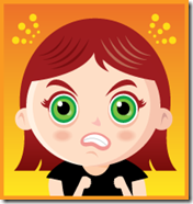 angry female cartoon
