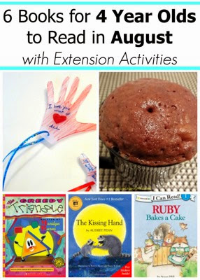 August Books for 4 Year Olds with Extension Activities
