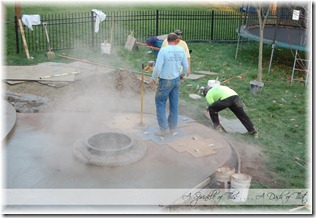 Stamped concrete patio color release {A Sprinkle of This . . . . A Dash of That}