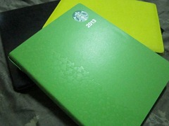 starbucks 2013 green planner
