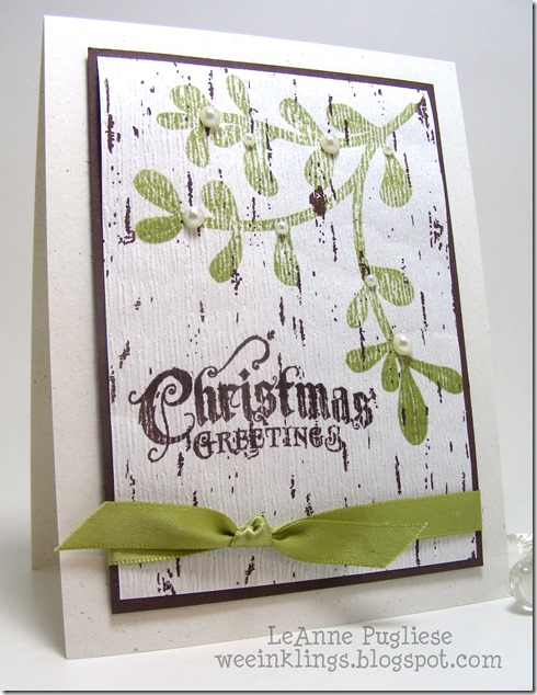 LeAnne Pugliese Merry Monday 74 WeeInklings Mistletoe Christmas