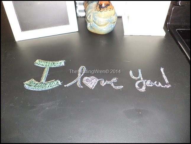 chalkboard paint kitchen counters