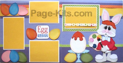 egg bunny svg scrapbook page kit layout idea 500