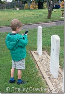 Preparing to take a photo using the BillionGraves app