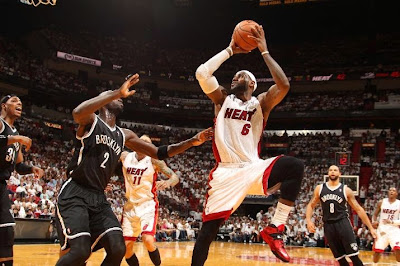 lebron james nba 140514 mia vs bkn 06 game 5 LeBron Closes Out Brooklyn in new Soldier 7 Heat Away PEs