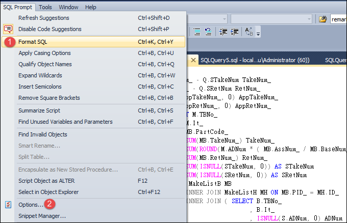 SQL Prompt UI