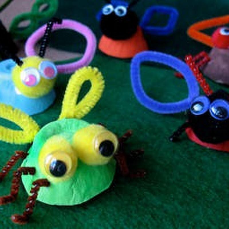 manualidades infantiles con hueveras recicladas