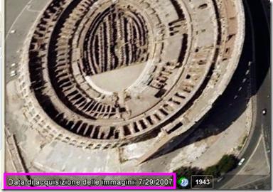 Conoscere la data delle immagini satellitari con Google Earth