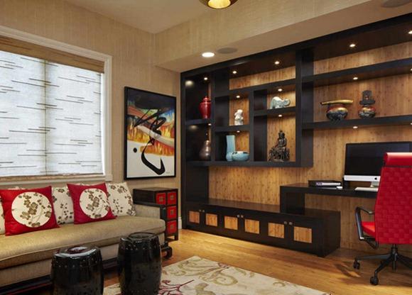 Decoracion Jarrones Chinos ~ Los jarrones y la decoraci?n de la pared crea un ambiente elegante