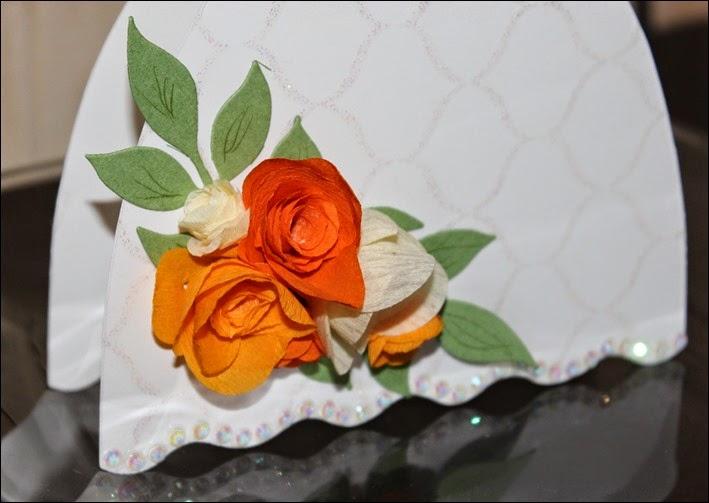 Hochzeit Geschenk Geldgeschenk Selbstgebastelt Hochzeitskleit Brautkleid 03