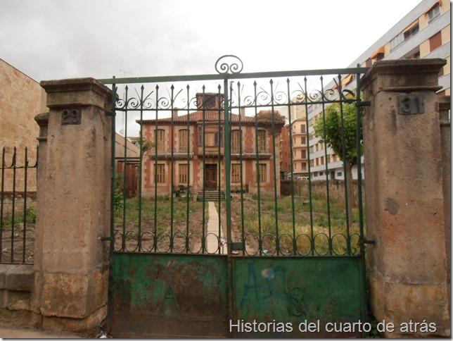Casa abandonada del paseo de la estación Salamanca