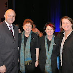 With David Hodgett, Wendy Lyons & Bronwen Jones at a stroke-a-chord choir performance