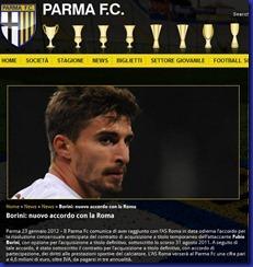 FC PARMA BORINI ACCORDO ROMA