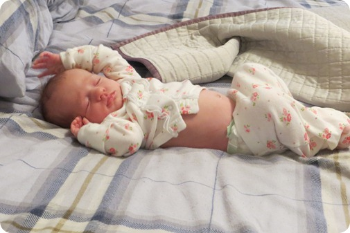 Liberty Asleep in Mommys Bed
