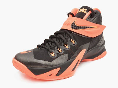 nike zoom soldier 8 gr black orange 2 03 Upcoming Nike Zoom LeBron Soldier 8   Bright Mango