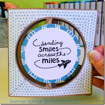 Sending Smiles Across the Miles by @gscrapbooks