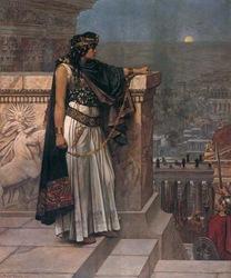 La última mirada a Palmira de la reina Zenobia - Herbert Schmalz