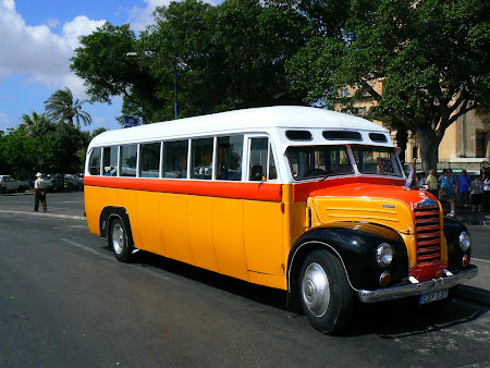 Transport in Malta: classical bus of Malta
