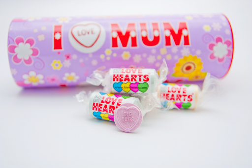 Love Hearts say I Love You mum