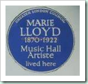 marie llloyd plaque hackney