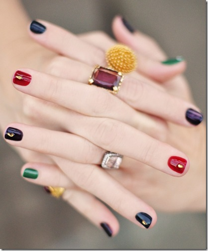 multicolor nails
