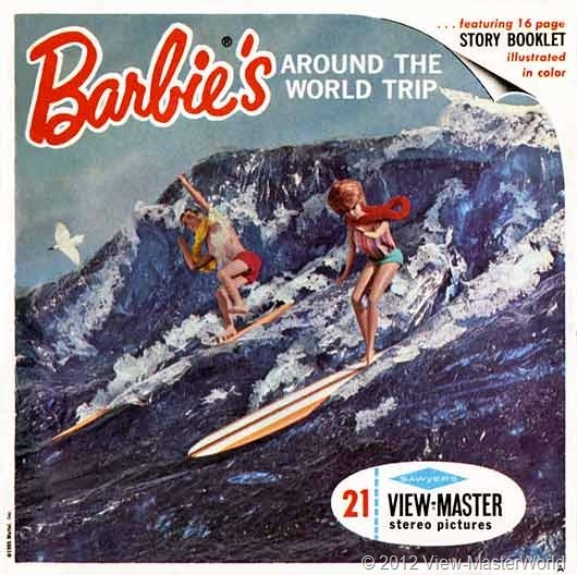 View-Master Barbies Around the World Trip (B500), Packet Cover