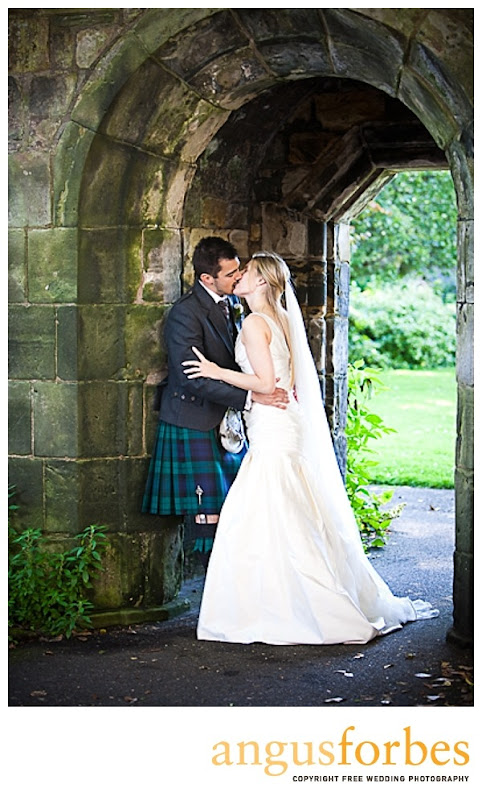 loving kiss Scottish wedding Photographer Dundee_048
