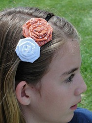 Prettylicious Orange &amp; White Headband