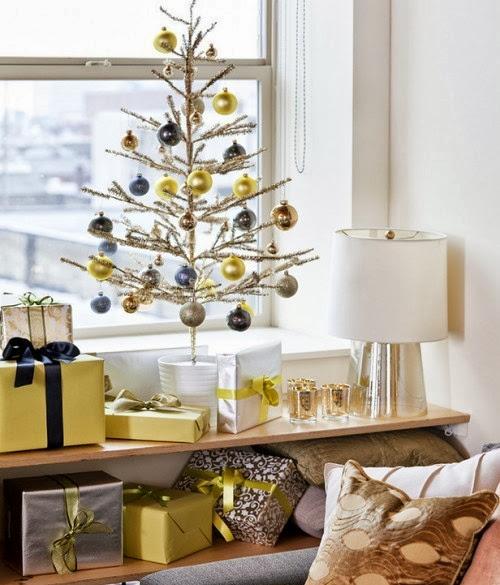 D nde colocar el rbol de navidad for Muebles decorados de navidad