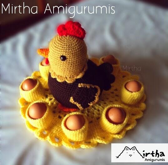 Mirtha Amigurumis: Gallina porta huevos