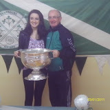 Ciara Shanahan with her father Liam, our club chairman