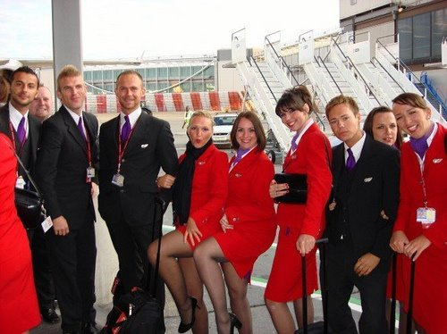 AirHostess.info Sexy Virgin Atlantic Air Crew group phot, Air Hostesses ...