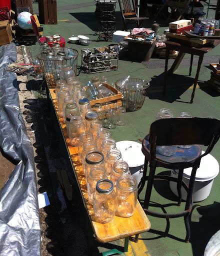 I've always loved glass jars, and a flea market is the perfect place to find them in bulk! You can use the jars as candle holders, or to store spices or oils.