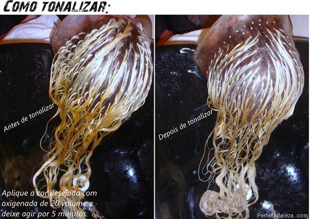 Como tonalizar cabelos loiros