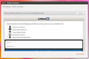 LinkedIn in Friends su Ubuntu 13.10