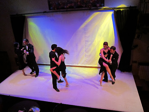 Dancers at the Complejo Tango show.