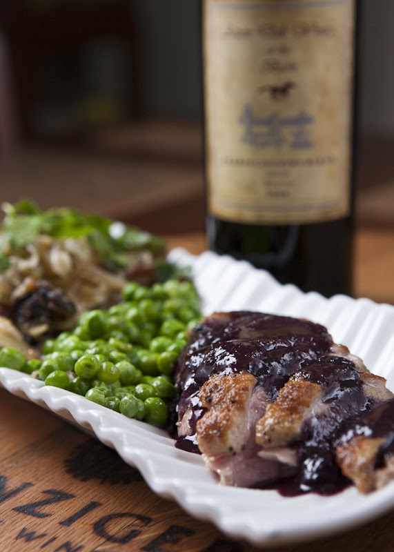 Pan Seared Duck Breast Wine and Blueberry Reduction-1