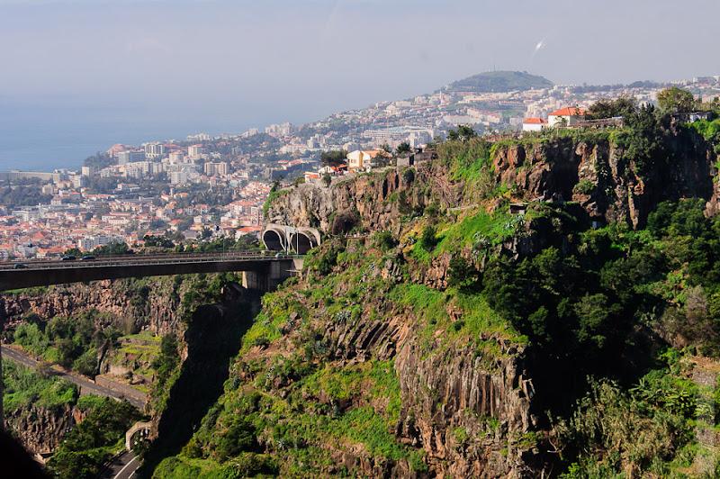 99. Февраль. Мадейра. Канатная дорога. Фуншал. Очередной мост - из норы в нору.
