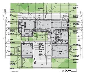 Plano de reforma y ampliacion casa en Barrier Island de arquitectos Sanders Pace